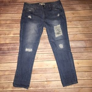 Forever21 life in progress distressed bf Jean